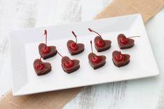 Boozy Valentines! Heart Shaped Chocolate Covered Cherry Jello Shots