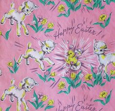 2 sheets of vintage thick easter wrapping paper by midwestgirl dennison happy easter gift wrap by hmdavid via flickr negle