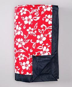 Look at this #zulilyfind! Tuffo Red Hawaii Outdoor Blanket by Tuffo #zulilyfinds