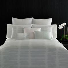 Vera Wang  Painted Stripe Duvet Set. #VeraWang #BeddingStyle #bedding #bed #bedroom