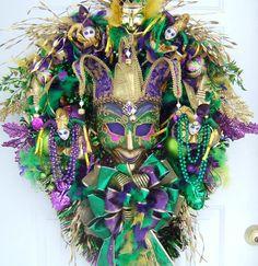 Mardi Gras wreath custom order  many styles by WreathsbyKimberly, $189.00