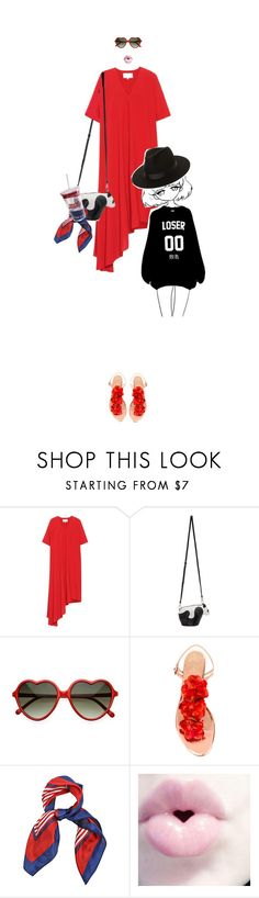 """""""Blow up!"""" by www-som ❤ liked on Polyvore featuring Maison Margiela, Loewe, Charlotte Olympia and Lack of Color"""