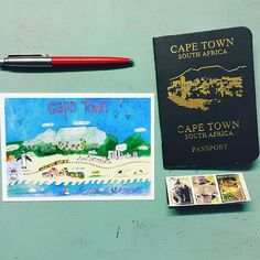 56 Likes, 12 Comments - CapeTown Art Watercolour, Cape Town South Africa, Love Painting, Stamp Collecting, Taking Pictures, Postage Stamps, Passport, Postcards, Lettering