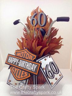 The Crafty Spark: Harley Davidson 60th Birthday Card