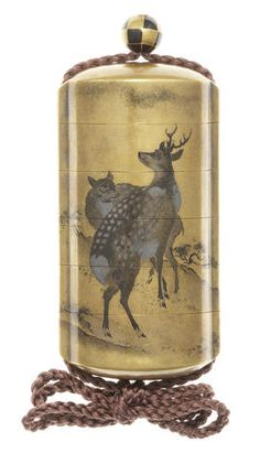 A gold lacquer five-case inro By Koma Kansai, after a design by Mori Sosen, 19th century