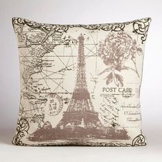 Eiffel Tour Throw Pillow
