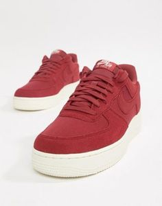 sale retailer 8ff4b 39e88 Nike Air Force 1  07 Suede Trainers In Red AO3835-600