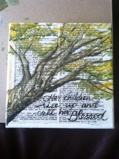 Mixed media wall art: Proverbs 31 - for mom