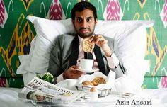 Aziz Ansari Breakfast in Bed Portrait Poster 11x17