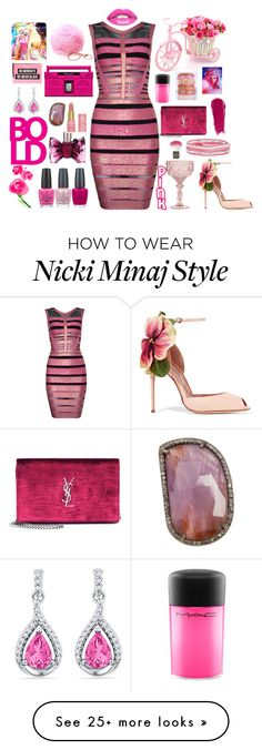 """""""BOLD Pink"""" by boho-betty-usa on Polyvore featuring Brian Atwood, Baci, Posh Girl, Topshop, Yves Saint Laurent, NARS Cosmetics, OPI, MAC Cosmetics, Viktor & Rolf and L'Agence"""