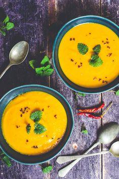 vegán édesburgonya krémleves mindenmentesen - sugarfree dots Ethnic Recipes, Food, Essen, Meals, Yemek, Eten