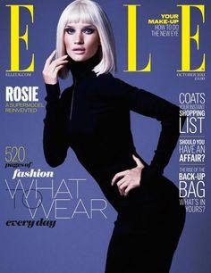 cool Elle UK Outubro 2013   Rosie Huntington-Whiteley por Mariano Vivanco  [Capa]