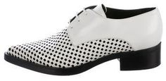 Stella McCartney Leather Pointed-Toe Oxfords w/ Tags Lace Up Shoes, Tap Shoes, Dress Shoes, Dance Shoes, Leather And Lace, White Leather, White Oxford Shoes, Vegan Boots, Oxfords