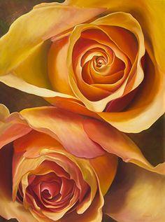 semanick_tworoses by Brenda Semanick Oil ~ x