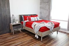 When so many people asked for redbedding over and over, we knew we needed to add it to the line. The fire engine red in our On Fire beddingis sure to be a favorite! We added our Match Sticks print and gray minky interior to this design. The solid color gives you so many options for accessorizing.  #beddys #zipyourbed #zipperbedding #bedroominspo #bedding #redbedding Bedroom Inspo, Bedroom Decor, Beddys Bedding, Zipper Bedding, Red Bedding, Make Your Bed, Decorating Tips, Bunk Beds, Dorm