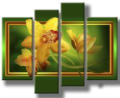 Схема вышивки «Орхидеи. Полиптих.» - Вышивка крестом