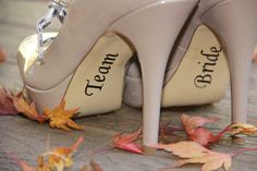 Team Bride Shoe Stickers - Bridesmaid Gift Idea - Vinyl Wedding Party Shoe Decals on Etsy, $4.00