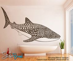 Vinyl Wall Decal Sticker Whale Shark item by Stickerbrand Wall Stickers Murals, Wall Decal Sticker, Wall Murals, Wall Art, Wall Vinyl, Mural Art, Vinyl Decals, Ocean Room, Bedroom Themes