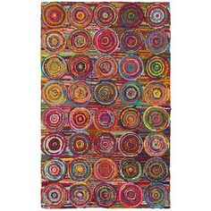 LNR Home Layla Multi-colored Abstract Area Rug (3'6 x 5'6) - Overstock™ Shopping - Great Deals on LNR 3x5 - 4x6 Rugs