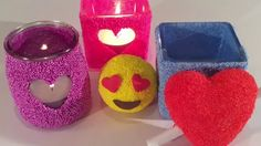 DIY Foam Klei ideetjes hartjes-thema Impressive Image, Tea Lights, Fun Crafts, Candle Holders, Presents, Candles, How To Make, Content, Winter