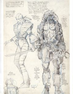 marvel1980s:  1990 - Barry Windsor-Smith's designs for Lady...