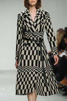 Tracy Reese Fall 2014 #texture #geometricprint