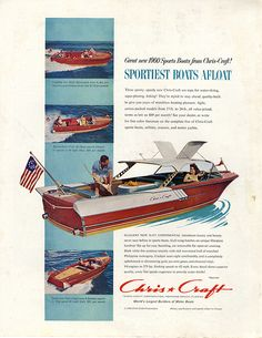 Instant access to historical digital collections. Chris Craft Boats, Motor Yachts, Classic Wooden Boats, Cabin Cruiser, Vintage Boats, Old Boats, Canoes, Rockets, Jets