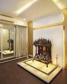Beautiful Pooja Room. www.khilani.in Follow us @khilaniinteriordesign for more inspiration.