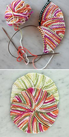 Dishcloth Knitting Patterns, Crochet Dishcloths, Knitting Stitches, Knit Patterns, Free Knitting, Knit Crochet, Yarn Projects, Knitting Projects, Crochet Projects
