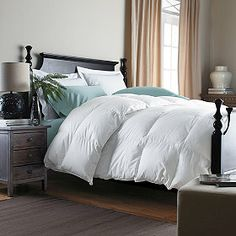 Alberta™ Baffled Goose Down Comforter.  Option.  For each King Size Bed (4).  Color:  Ivory.  Medium Warmth or Extra Warmth.
