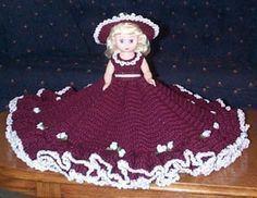 JACQUELINE crochet music box bed doll pattern