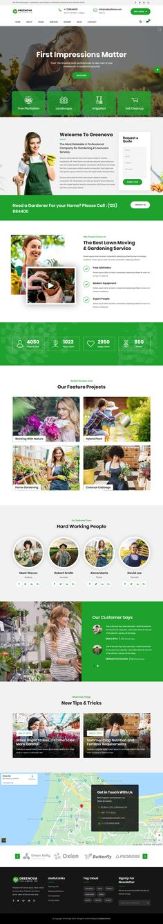GreeNova is unarguably the best gardening and landscaping WordPress theme. Its build allows you to create a website for lawn services, landscape architects, gardening businesses, landscaping companies, flower businesses, agriculture, and any other business that is related to agriculture and the environment. We built this beautiful theme while consulting with experts in these fields so that our theme gives you every feature that you need to transform your business into a world-beater. Landscaping Company, Garden Landscaping, Professional Wordpress Themes, Lawn Service, Landscape Architects, Wordpress Plugins, Agriculture, Fields, Environment