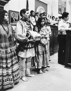 Members of the Florida Seminole Tribe and the Florida Miccosukee Tribe in the Florida Senate - Tallahassee, Florida 1976