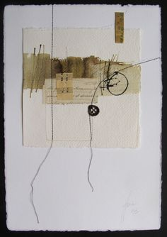 on paper Blanca Serrano Serra Mixed Media Collage, Collage Art, Art Collages, Stitching On Paper, Assemblage Art, Art Graphique, Art Plastique, Textile Art, Altered Art