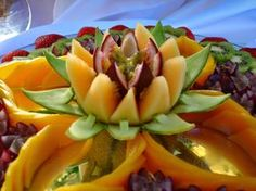 Um blogue sobre decoração em fruta e art carving fruits.