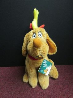 """MAX DOG How The Grinch Stole Christmas KOHLS CARES Plush 11"""" With Tag #KOHLSCARES"""