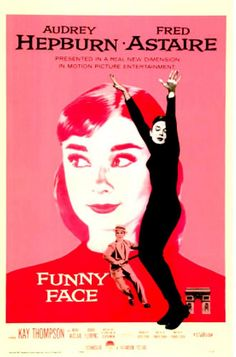 """""""Funny Face"""" Audrey Hepburn movie ad --in case you wonder where the dog's name came from ... we think"""