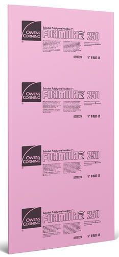 "2"" x 4' x 8' R10 FOAMULAR 250 Rigid Foam Insulation at Menards"