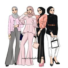 19 Ideas Fashion Drawing Sketches Art Girl - Fashion Show Fashion Illustration Sketches, Fashion Sketchbook, Fashion Sketches, Drawing Sketches, Drawing Art, Hijab Drawing, Drawing Style, Drawing Ideas, Art Drawings