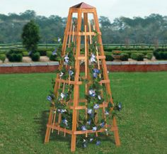All Yard & Garden Projects - Garden Obelisk Woodworking Plan