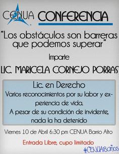 Conferencia #CENUA NO FALTES