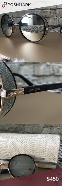 0c00aef4f Jimmy Choo Round Bling Glitter Sunglasses Used. Some of the inside  information rubbed from wear