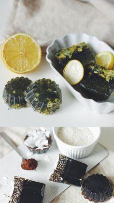 lemon melissa poppyseed// coffee coconut- peeling soap.DIY (vegan)