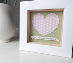 personalised fabric heart artwork by little foundry | notonthehighstreet.com