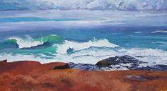 "Saatchi Art Artist MaryAnn Ead; Painting, ""February Beavertail Storm"" #art"