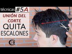 Aprende a cortar el pelo en la parte Superior ✂ Paso #4B   Corte de Pelo a Tijeras ★ Técnicas - YouTube