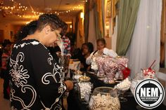 Guest enjoying the candy bar as it opened up.
