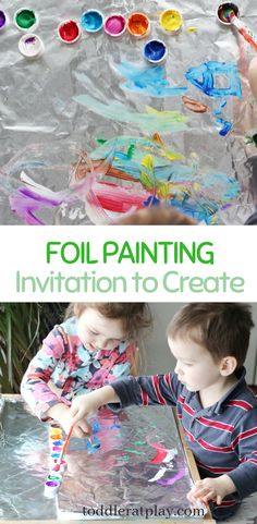 A simple invitation to play. Great process art activity for preschoolers. - A simple invitation to play. Great process art activity for preschoolers. Preschool Art Activities, Toddler Learning Activities, Infant Activities, Activities With Toddlers, Creative Activities For Children, Outdoor Toddler Activities, Process Art Preschool, Outside Activities For Kids, Playdough Activities
