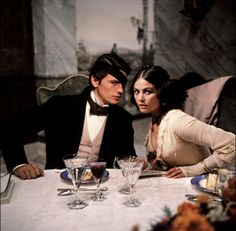 Alain Delon and Claudia Cardinale in Visconti's film 'The Leopard' (1963).