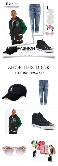 """untitled*47"" by nimeda ❤ liked on Polyvore featuring Polo Ralph Lauren, Dsquared2, Warner Bros., Converse, Jimmy Choo, men's fashion and menswear"
